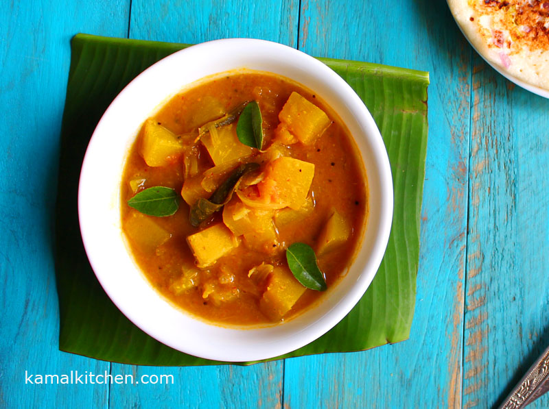 Pumpkin Sambar – Vegan Lentil Stew for Fall