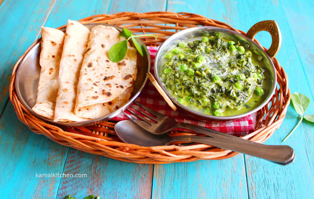 methi matar malai recipe fenugreek greens with peas