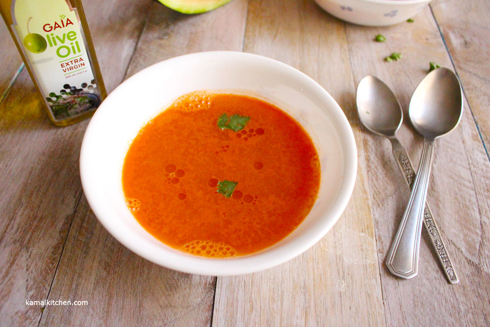 Watermelon Gazpacho recipe with Gaia Extra Virgin Olive Oil