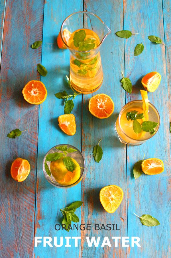 orange fruit water - fruit infused water
