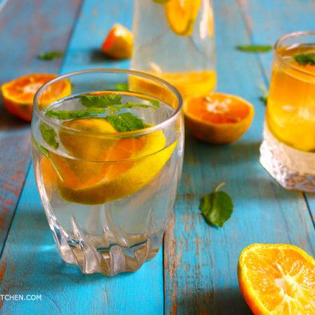 Orange Tulsi Fruit Water – Fruit Infused Water Recipe