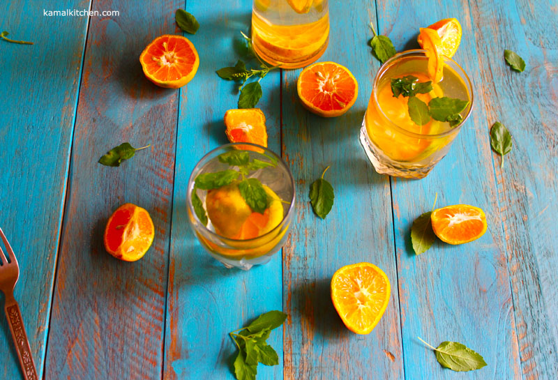 orange fruit water - fruit infused water