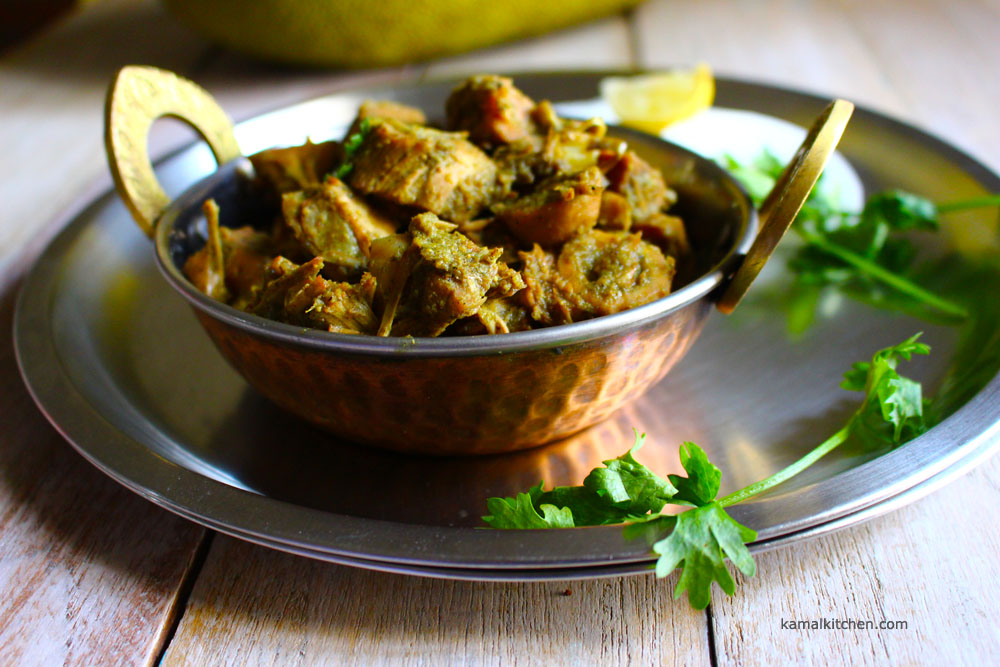 jackfruit curry or jackfruit masala or fanas curry or fanas subji or fanasachi bhaji